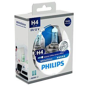 2-Bombillas-Philips-WhiteVision-H4-4300K-2-W5W-Faros-Coche-White-Vision-Xenon