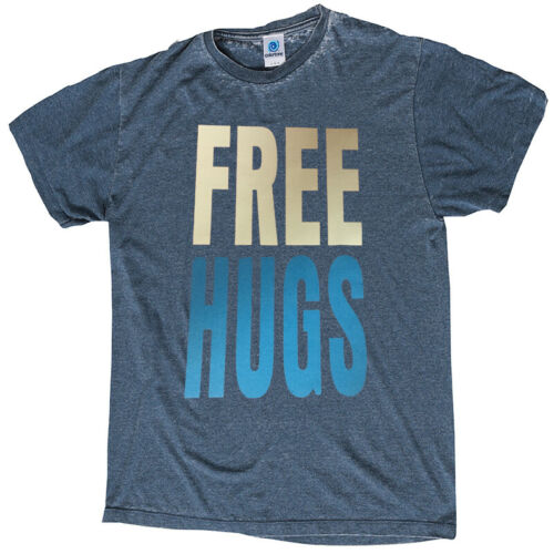 FREE HUGS T-SHIRT ACID-WASH TOP SELLER GREAT QUALITY ASSORTED COLORS SIZES S-3XL