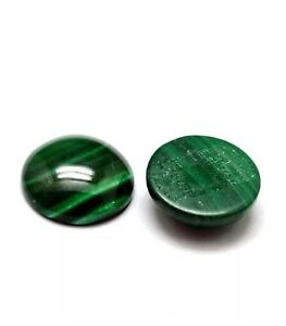 1-x-Green-Malachite-Flat-Back-12mm-Coin-4-5mm-Thick-Cabochon