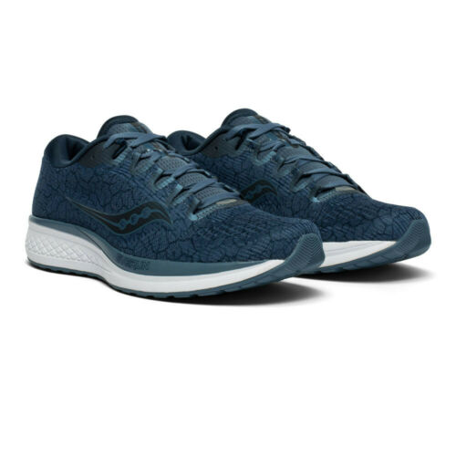 Saucony Mens Jazz 21 Running Shoes Trainers Sneakers Navy Blue Sports