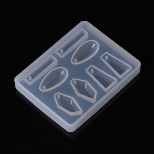Silicone Mold DIY Geometric Triangle Mirror Mould Craft Jewelry Making Decor New
