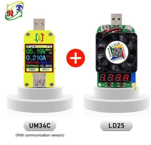 Android App UM34C USB 3.0 Type-C Voltage Current Meter Testeur de charge de batterie
