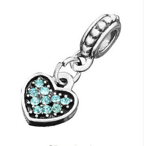 hot-European-Silver-CZ-Charm-Beads-Fit-sterling-925-Necklace-Bracelet-Chain-xc9b