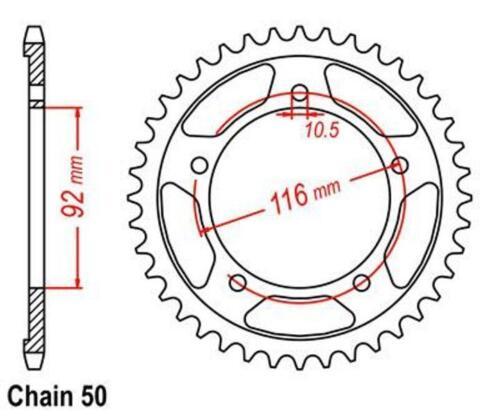 KR DID VX Kettensatz Kawasaki ZZR 1400 2006-2010 .. 530 VX Glieder 116