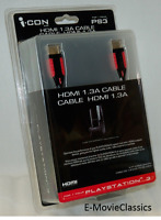 Icon Hdmi 1.3a Ps3 Cable Playstation-3 Audio Video 24k Gold 1080p Hd [brand New]