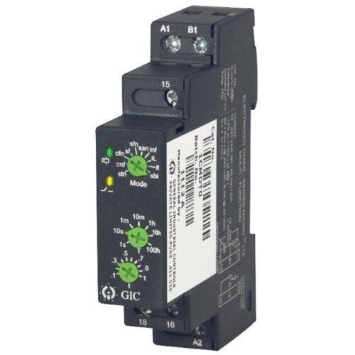 100 H 12-240VAC//DC SPCO Fondo de inversión garantizado 1 CMDT 0 Modular Temporizador 12 funciones 0.1s