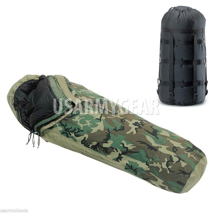 US Military 4 Pc MSS Modular Sleeping Bag Sleep System GoreTex Bivy Cover Patrol
