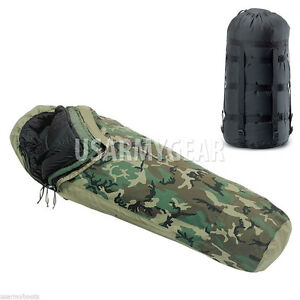 US-Military-4-1-Pc-MSS-Modular-Sleeping-Bag-Sleep-System-GoreTex-Bivy-Carrier