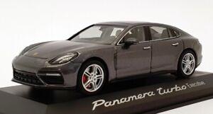 Herpa-1-43-escala-WAP0207500G-Gris-Porsche-Panamera-Turbo-Ejecutivo