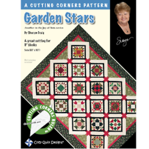 Garden-Stars-Quilt-Pattern-A-cutting-corners-patter-Cozy-Quilt-Designs