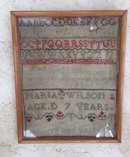 Antique Needlework Sampler Cross Stitch