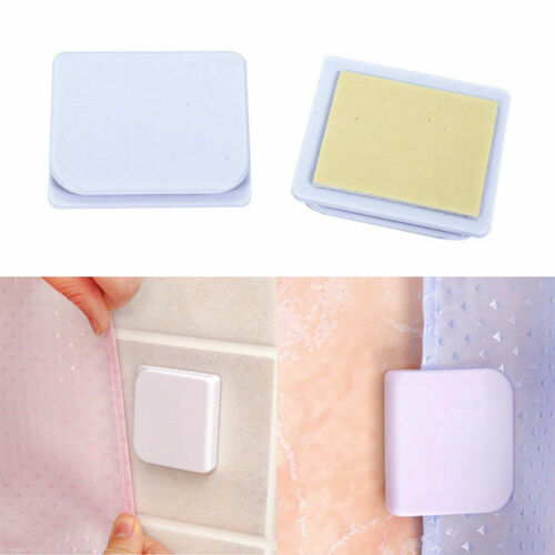 2//4//8PC Shower Curtain Anti Splash Leaking Spill Stop Tub Adhesive ClipListed