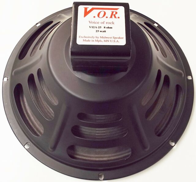 "VOR 12"" Alnico 25 watt Guitar Speaker - 8 ohm - NEW STOCK - Jensen P12R Upgrade"