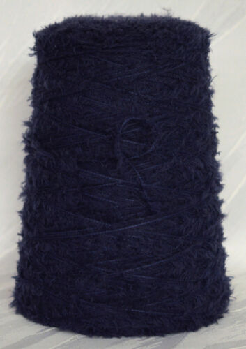 Kg 70/% Merino Frottee Effekt blau Wolle Spule BE.MI.VA LL 130m liberty 29€