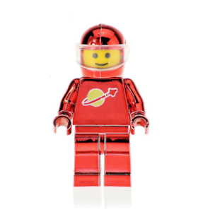 LEGO-SPACE-MINIFIGURE-VINTAGE-CLASSIC-SPACEMAN-ASTRONAUT-CHROME-RED