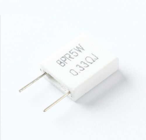 5pcs Cement Resistor BPR56 5W 0.33R Resistance 0.33ohm DIY Components NEW