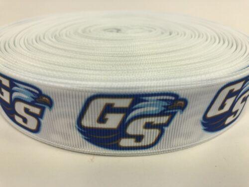 BTY 1 1//2 Inch White Georgia Southern GSU Eagles Football Grosgrain Ribbon Lisa