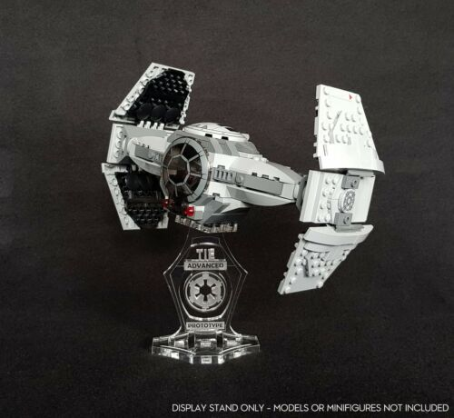 Display stand angled for Lego 75082 TIE Advanced Prototype