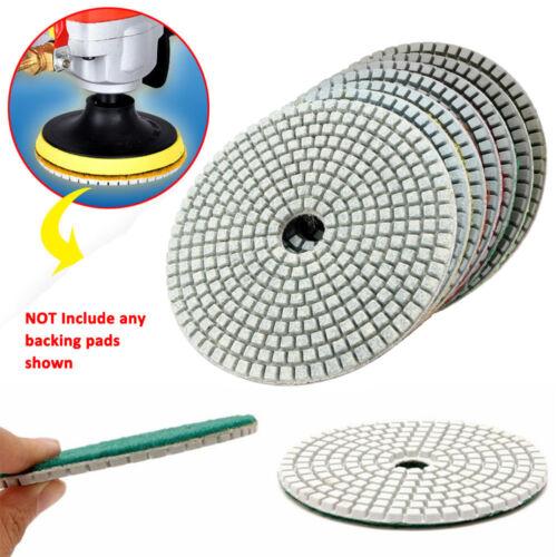 "5/"" inch 125mm Diamond Polishing Pads Granite Marble Individual Gri"