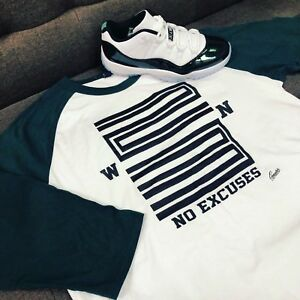 eff42fbbb6242e Image is loading Raglan-Shirt-Match-Jordan-11-Easter-Emerald-Green-