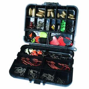 1X-128-pcs-boites-Peche-Accessoires-Crochet-Pivotant-Poids-De-Peche-Sinke-5R3