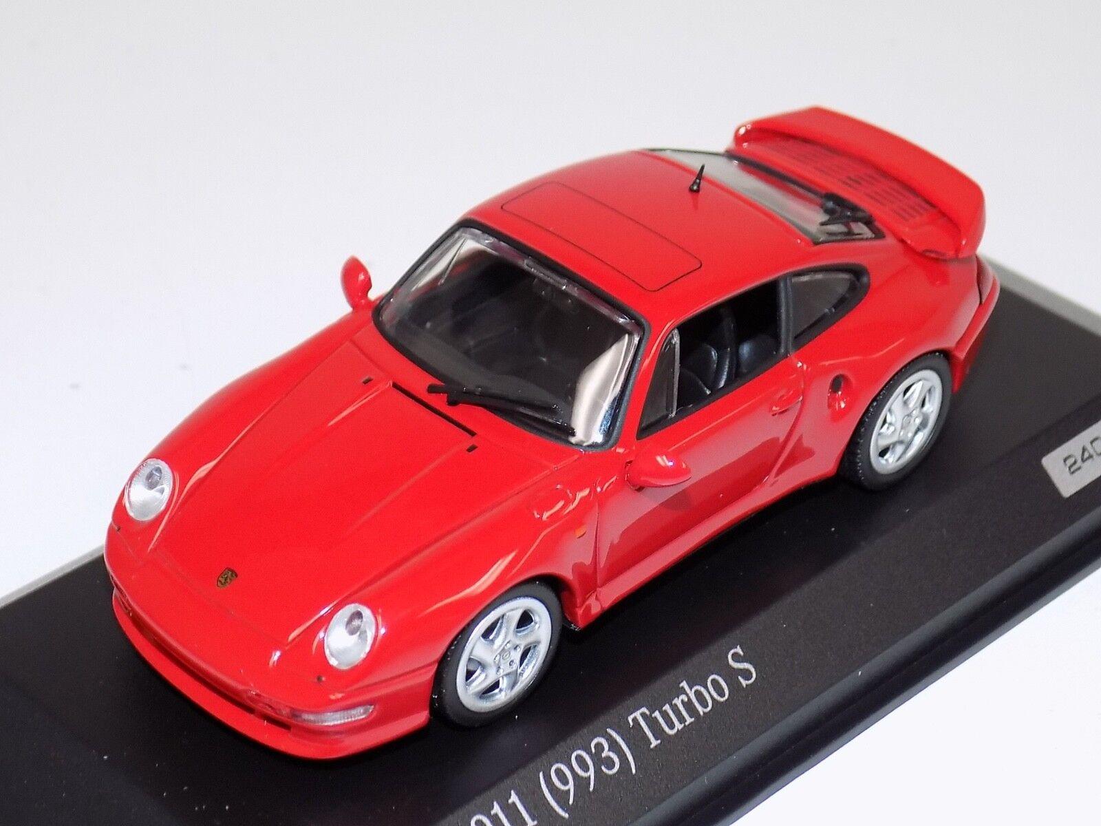 1 43 Minichamps Porsche 911  993  Turbo S in  Red  CA04316001