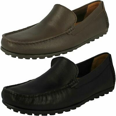 Clarks Tunsil Step Mens Black Wide 2E Comfort Casual Slip On Loafers Shoes