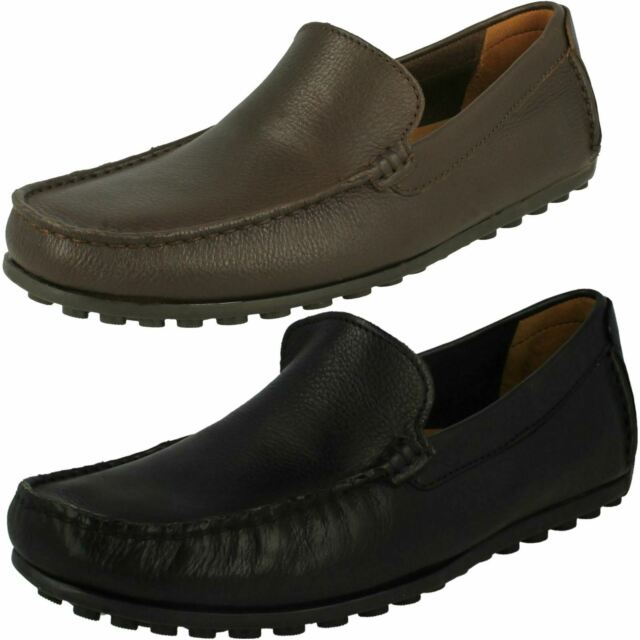 MENS CLARKS HAMILTON FREE SLIP ON PARTY LOAFERS COMFORT SHOES SMART CASUAL SIZE