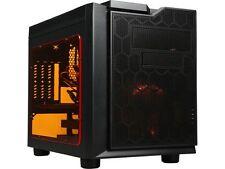 APEVIA X-QPACK3-OG Black Case w/ Orange LED Fan SECC Black Metal Micro ATX Cube