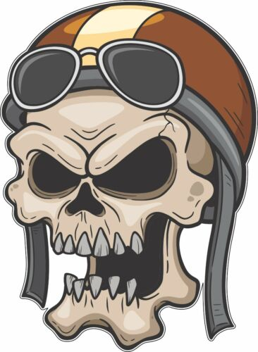 Skull Pilot Sunglasses Cartoon Bumper Sticker Vinyl Decal