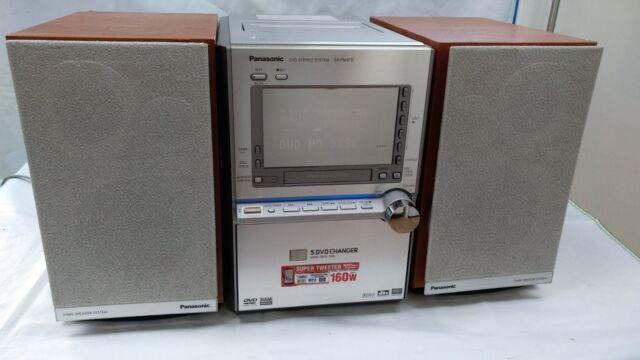 Panasonic SA-PM91D 5-DVD/CD changeur Mini Système Hi-Fi Bluetooth MP3 super sound