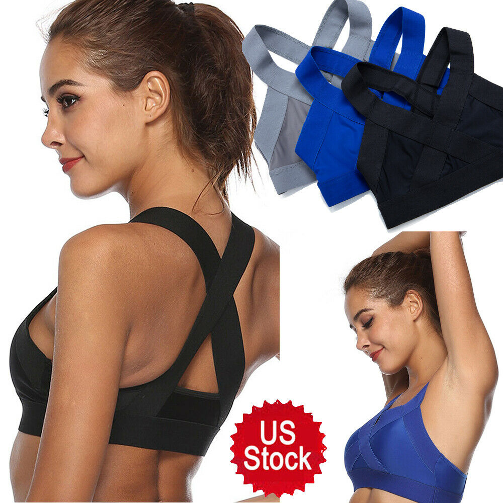 X-shaped Women's Bra Gym Yoga Shockproof Sexy Bra Top Running Non-padded Bra NTH