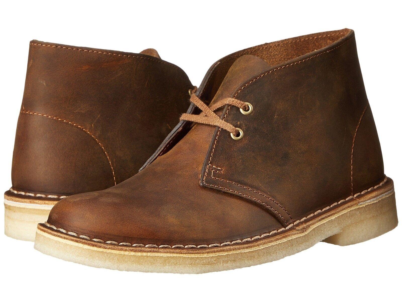Clarks Uomo Original Desert Boot Beeswax Pelle Medium (D, M)