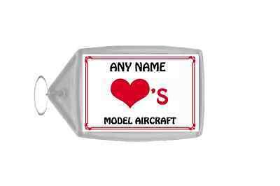 Attivo Amore Cuore Modello Aeromobili Portachiavi Personalizzato-mostra Il Titolo Originale