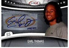 2010 Earl Thomas Sage # to 400 auto autograph