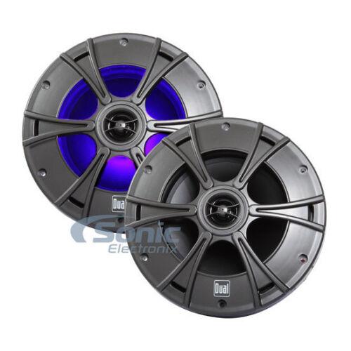 """Dual DMS8027 960W 8/"""" 2-Way Coaxial Marine Speakers w// IlluminNITE Illumination"""