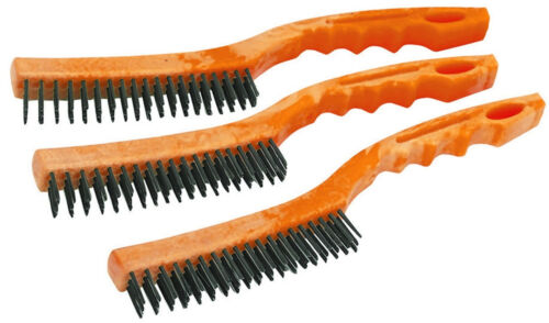 Y5-3 HFT 45661-3 Pc Heavy Duty Wire Brushes Cleaning Paint Prep NEW Rust