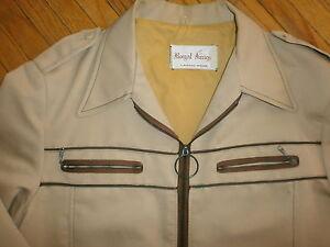 Uni Vintage Royal Chevalier Veste Mode Années 60 70 Slip Taille Basse Bronzage Brun
