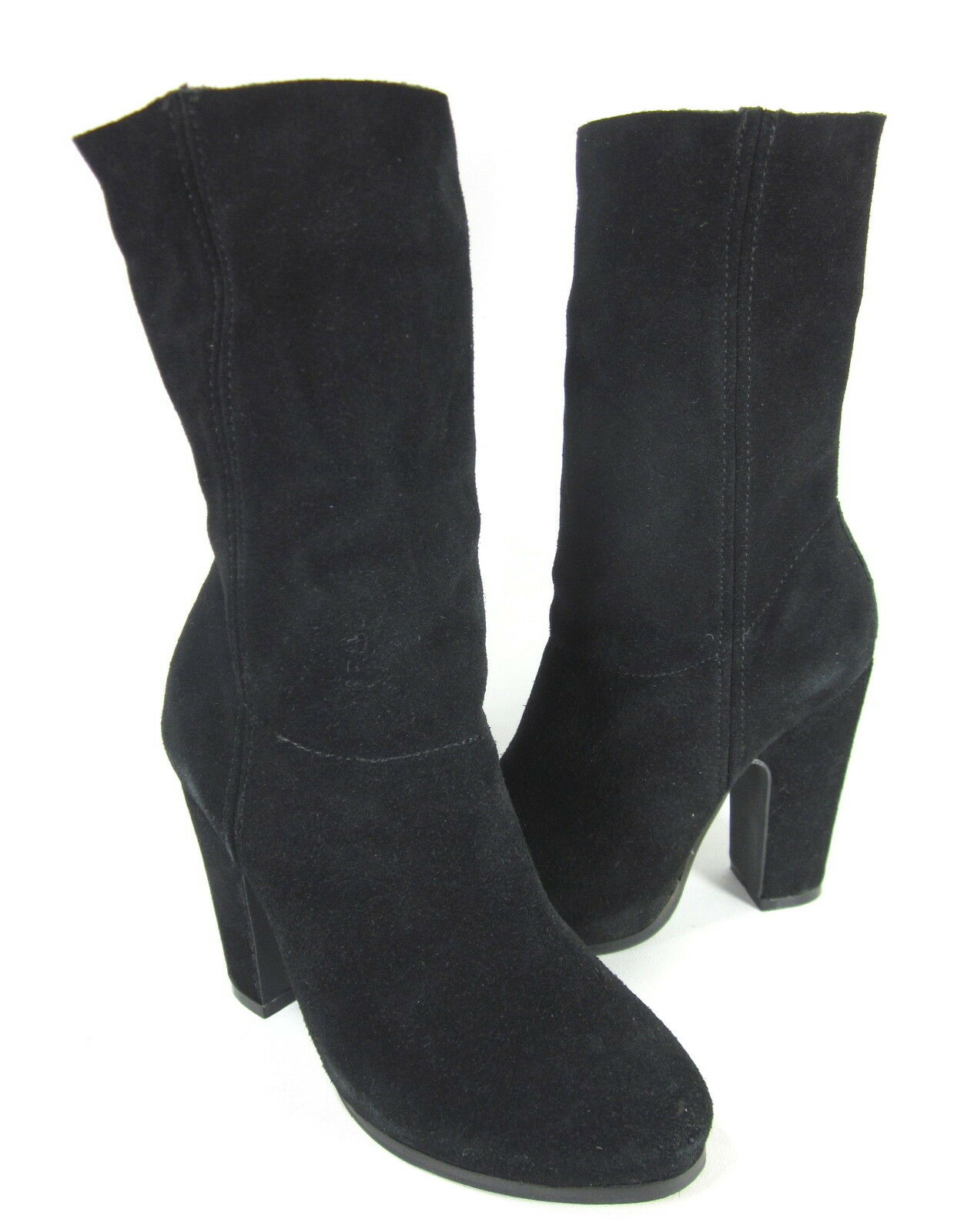 N.Y.L.A. damen CIRCUIT MID-CALF FASHION Stiefel schwarz LEATHER Größe 6 Pre-Owned