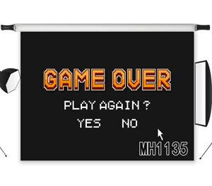 Game Over Vinyl Studio Backdrop Black Background Screen Photography Props 7x5ft Ebay