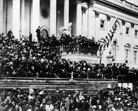 8x10 Photo: President Abraham Lincoln Gives 2nd Inaugural Address At Capitol