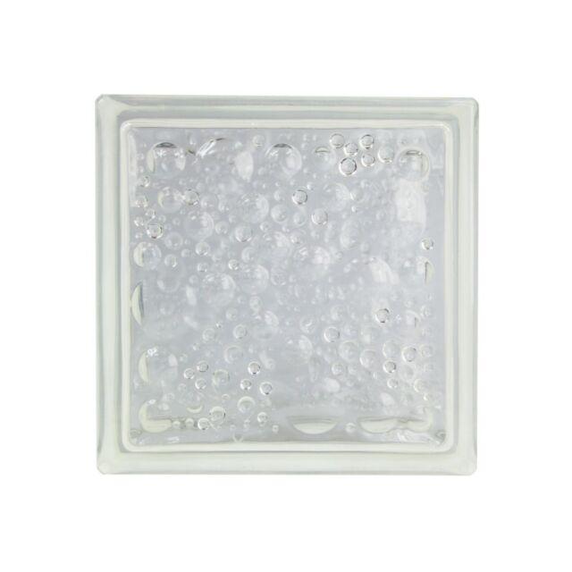4 Stück Glasbausteine Glassteine Savona Klar 19x19x5cm