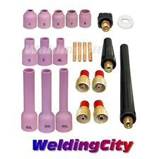 """TIG Welding Gas Lens Accessory Kit .040""""-1/8"""" for Torch 9/20/25 T32B 
