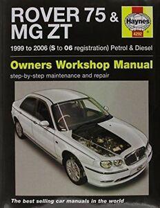 haynes car workshop repair manual rover 75 mg zt petrol diesel ebay rh ebay ie Workshop Manual 1996 Mercury Cougar Haynes Workshop Manuals UK