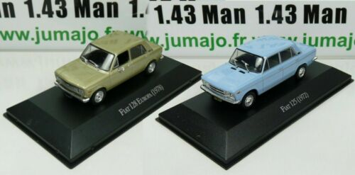 Fiat 125 et 128 Europa LOT 2 Voiture 1//43 SALVAT Autos Inolvidables