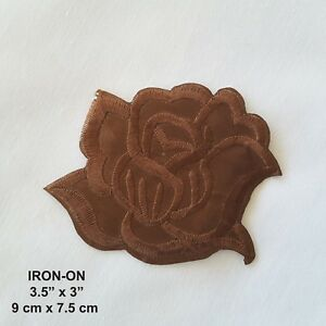 Brown Butterfly Patch Iron On Sew On Jeans Dress T Shirt Skirt Embroidered Badge