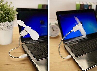 HOT Flexible USB Mini Cooling Fan Cooler For Laptop Desktop PC Computer HUSU