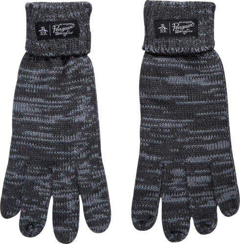 Original Penguin Straits Gloves Mens Womens Winter Fashion Grey
