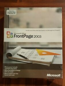NEW SEALED Microsoft Office FrontPage 2003 for Windows Full Version RETAIL Box