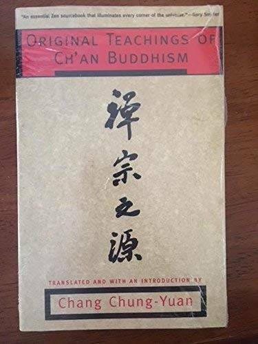 Original Teachings of Ch'an Buddhism - Paperback By Chung-Yuan, Chang - GOOD